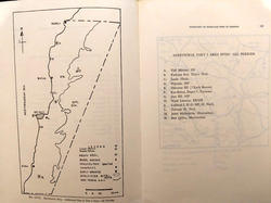 Map of Lebanon showing Additional Part 1 area sites from all periods, from Part 2 (credit to the memories of Lorraine Copeland and Peter J. Wescombe)
