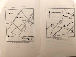 Maps of Tell Neba'a Faour I, and neighbouring tells and Tell Ain Nfaikh and neighbouring tells from Part 2 (credit to the memories of Lorraine Copeland and Peter J. Wescombe)