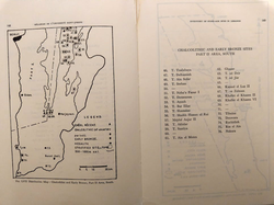 Map of Lebanon showing Chalcolithic and Early Bronze Age sites in the South from Part 2 of The Inventory of Stone Age Sites in Lebanon (credit to the memories of Lorraine Copeland and Peter J. Wescombe)