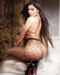 Modeling photo of Suzy Cortez that has been used by Playboy.