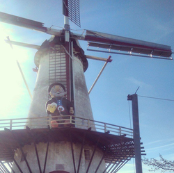 The windmill where RoelandP Lanparty grew up in.