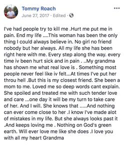 Tommy Roach's                              post about his grandmother.