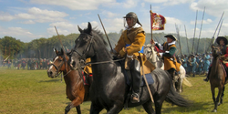 Reconstruction of a battle in one of Britain's first three civil wars