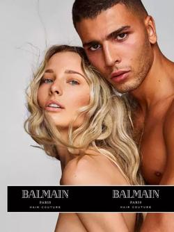 Younes Bendjima modeling for Balmain [2]