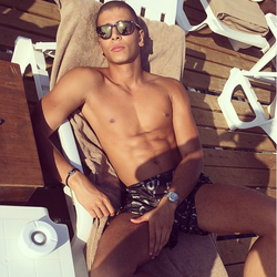Younes Bendjima lounging in Cannes, France [11]