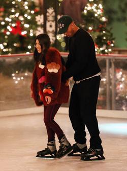 Younes Bendjima and Kourtney Kardashian skating in Thousand Oaks, California [19]