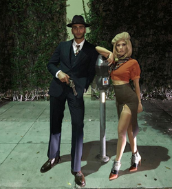 Younes Bendjima and Kourtney Kardashian dressed up as Bonnie & Clyde for Halloween in October 2017 [11]