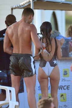 Younes Bendjima hosing off Kourtney Kardashian in St. Tropez, France   [19]