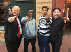 DBangz flips off the camera with friends in New Orleans.