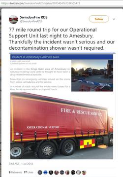 Swindon Fire Brigade - deleted tweet