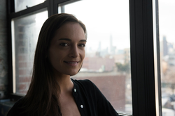 Photo of Julia Salazar taken as part of her campaign.