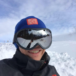 Taking a selfie while out skiing