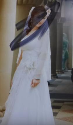 Wedding photo ofQin Yue that she vandalized                                                                  [3]                                                               