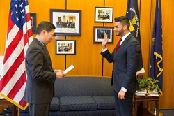 Swearing in at Department of Labor [3]​