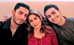 Ammar Campa-Najjar with his mother and brother [3]​