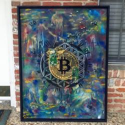 Bitcoin painting