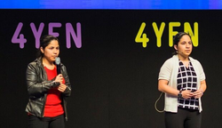 CyberCode Twins in Barcelona presenting at 4YFN