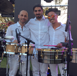 Nissim Malul at an event where he played the drums.