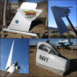 Joe Davies Heritage Airpark at Palmdale Plant 42 / collage.