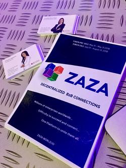 ZAZA brochures, Step Conference, Dubai, March 2018