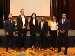 ZAZA's team in Blockchain Disruption Meetup. From left to right: Saul Tarazona, Hans Henrik Christensen, Zhazira Lepess, Parag Bhadra, Loredana Manushaqa, Seif Abd El Rahman