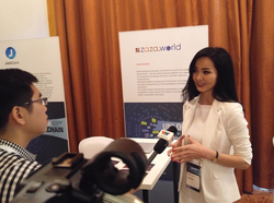 Interview of ZAZA's founder Zhazira Lepess in Vietnam TV, Unlock Blockchain Event, Dubai,2018
