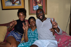 Marc-Kwesi Farrell with his family