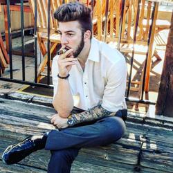 Having a cigar
