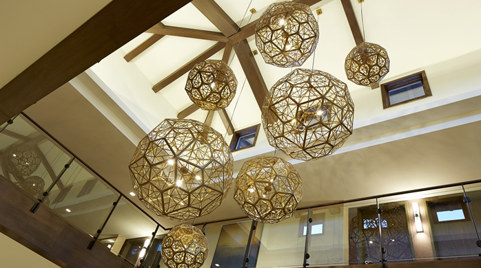Lobby Sphere Lights