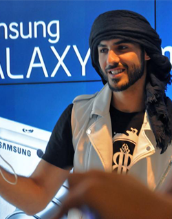 Omar Borkan is the first Arab ambassador for 2 products of Samsung in Latin America