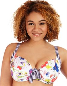 Picture of Fulfilled White Floral Bikini Top White Floral