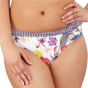 Picture of Fulfilled White Floral Fold Brief White Floral