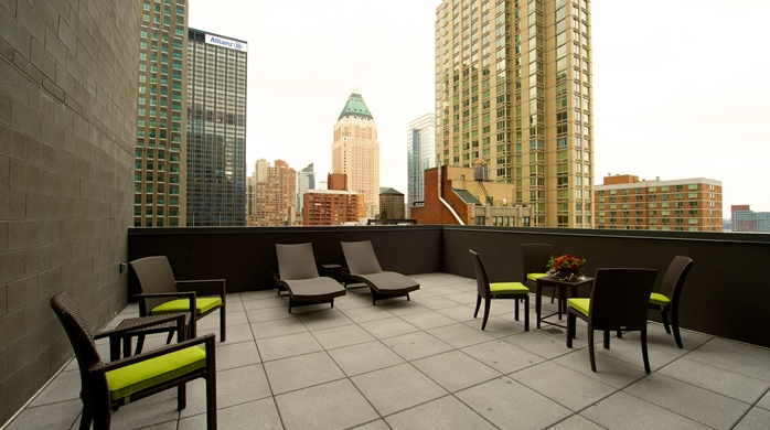 Exterior Patio with NYC View