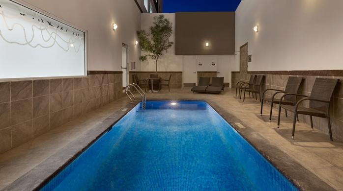 Exterior heated pool area