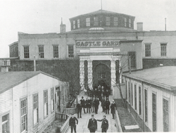 Castle Garden when it served as New York's first immigrant depot. Over 8 million immigrants passed through these doors.