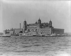 Ellis Island                                in 1905