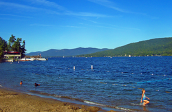 Lake George, one of numerous oligotrophic lakes in the Adirondack region, is nicknamed the Queen of American Lakes.