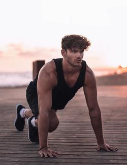 Sergio exercising