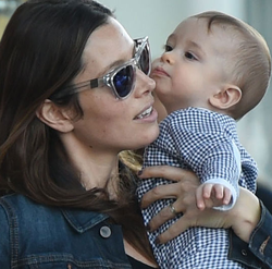 Silas with mommy.