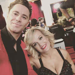 Photo of Terra Jole with her dance partner Sasha Farber [6]