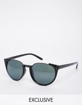 AJ Morgan Exclusive Round Sunglasses with Half Metal Frame