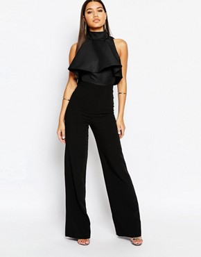 AQAQ Lourdey Jumpsuit With High Frill Neck
