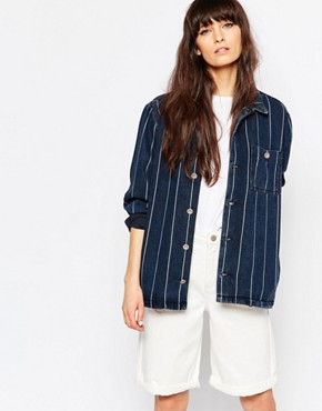 Bethnals Tommy Pinstriped Relaxed Denim Jacket