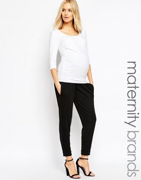 Bluebelle Maternity Cuff Leg Trouser With Bump Band