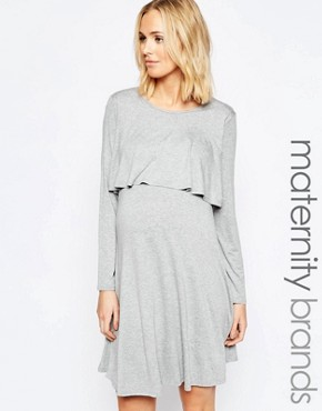 Bluebelle Maternity Double Layer Swing Dress
