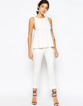C/meo Collective Talk It Out Kickflare Trousers in White