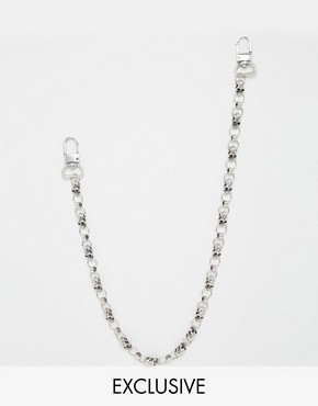 Chained & Able Ghost Skull Jean Chain In Silver
