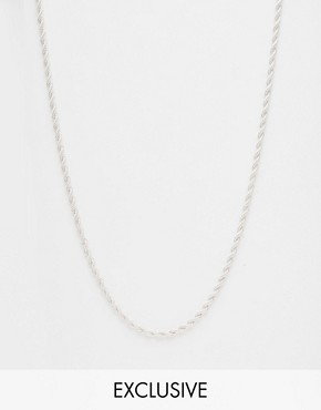 Chained & Able Rope Necklace In Silver
