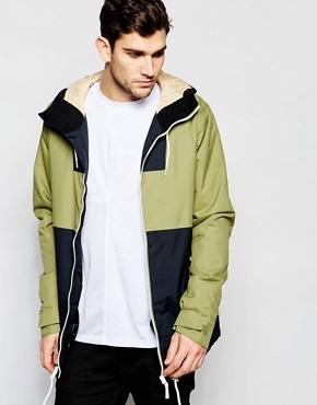 CLWR Jacket In Colour Block With Hood