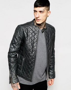 Goosecraft Leather Biker Jacket With Quilting